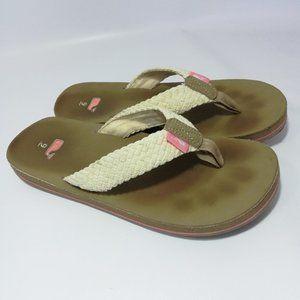 Vinyard Vines Flip Flop Sandals Size 9 Woven